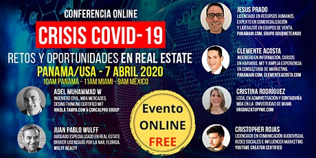 CRISIS COVID19 – Retos y Oportunidades en Real Estate. Panama / USA. ONLINE tickets