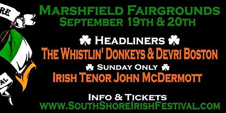 South Shore Irish Festival - September 19 & 20th - Marshfield Fair Grounds tickets