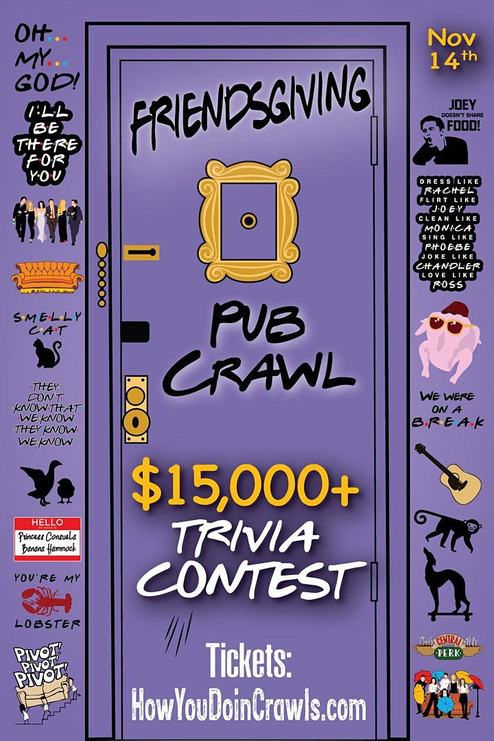 Pittsburgh - Friendsgiving Trivia Pub Crawl - $15,000+ IN PRIZES! image