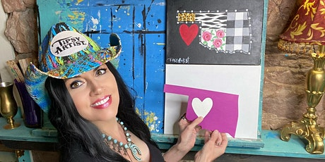 LIVE Video Paint Party Class ~ Your Custom State Quilt tickets
