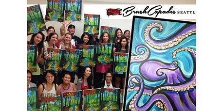 VIRTUAL Painting Class: Paint a swirly Octopus! (04-21-2020 starts at 2:00 PM) tickets