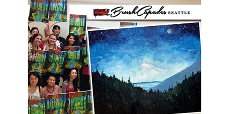 ONLINE Painting Class: Bob Ross Style Mt. Rainier! (07-05-2020 starts at 2:00 PM) tickets