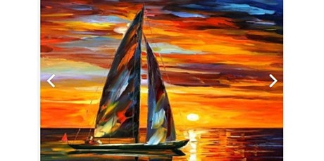 ONLINE Painting Class: Sailboat Sailing into the Sunset (07-08-2020 starts at 6:00 PM) tickets