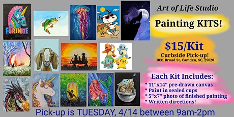 Curbside PICK-UP Paint Kits 4/14 (SOLD OUT) tickets