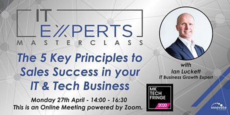 The 5 Key Principles to Sales Success in your Tech Business tickets