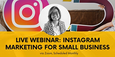 1-day Live Zoom Training: Instagram Marketing & Advertising tickets