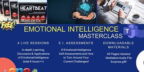 EMOTIONAL INTELLIGENCE MASTERCLASS (ONE PRICE FOR 4 LIVE SESSIONS) tickets