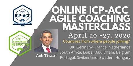 ICAgile Agile Coaching Masterclass - Online (ICP-ACC) - UK & Europe tickets