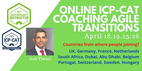 ICAgile Coaching Agile Transitions Masterclass - Online (ICP-CAT) tickets