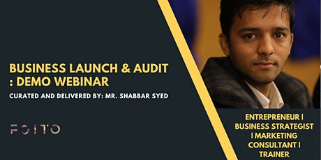 Business Launch and Audit: Demo Webinar tickets