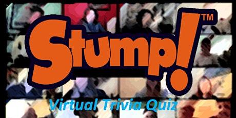 Stump! Tonight Monday Pop-Up Virtual Pub Quiz Trivia Night Boston  tickets