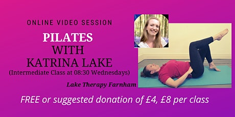 Pilates At Home With Katrina Lake. Intermediate  Class. (With Recordings) tickets
