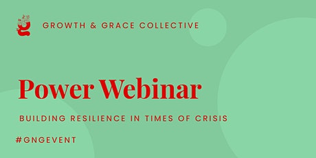 Webinar: Building resilience in times of crisis tickets