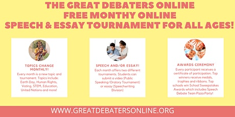 Great Debaters Online Monthly Speech Tournament tickets