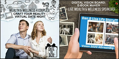 Virtual Date Night-Wealth &Wellness Speakers +Vision Board  & Dinner Deals! tickets