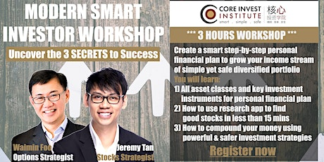 Modern Smart Investor Stocks & Options (Online Webinar) SG tickets