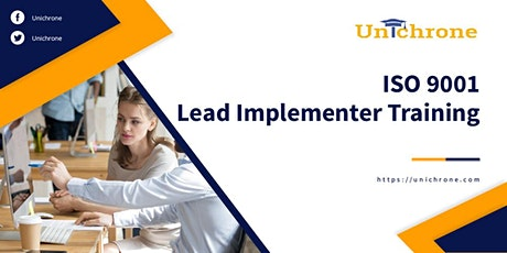 ISO 9001 Lead Implementer Training in Riyadh Saudi Arabia tickets