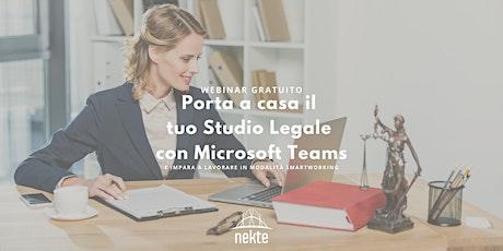 Porta a Casa il tuo Studio Legale con Microsoft Teams biglietti