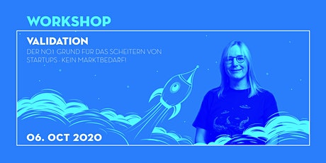 Startup Workshop: Validation [online & kostenlos] Tickets