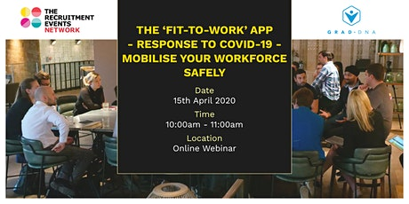 The 'Fit for Work' app - response to COVID-19 - your workforce safely tickets