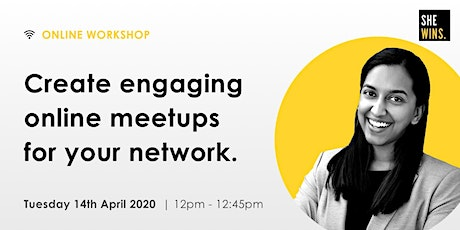 Create engaging online meetups for your network tickets