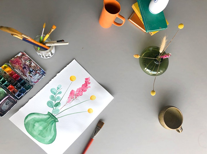 Watercolour Botanicals (Online class) image