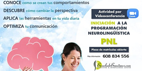 Charla informativa online del Curso de iniciación a PNL entradas