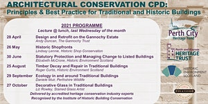 Architectural Conservation CPD 2021: Principles & Best...