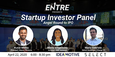 Startup Investor Panel  (Angel Round to IPO) - Online Event tickets