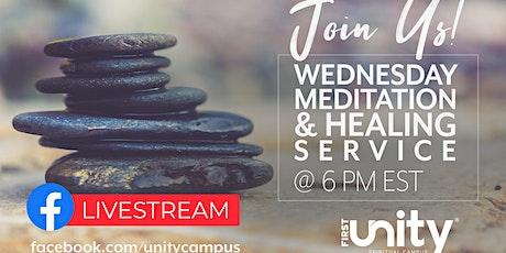 Meditation and Healing Service via Livestream on Facebook tickets