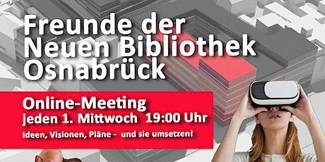 Online-Meeting der Freunde der Neuen Bibliothek Osnabrück Tickets