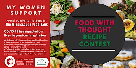 Food With Thought-Recipe Contest  for The Mississauga Food Bank by MWS tickets