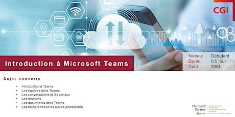 Introduction à Microsoft Teams billets