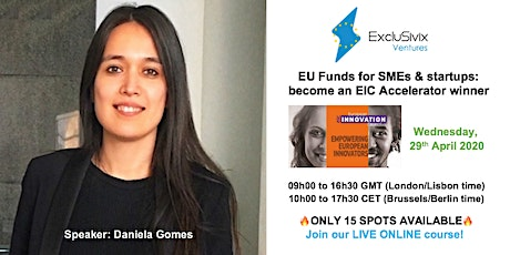 EU Funds for SMEs & startups: become an EIC Accelerator winner! tickets