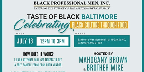 Taste of Black Baltimore  tickets
