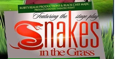 A evening of dinner theater featuring the  stage play Snakes in the Grass tickets