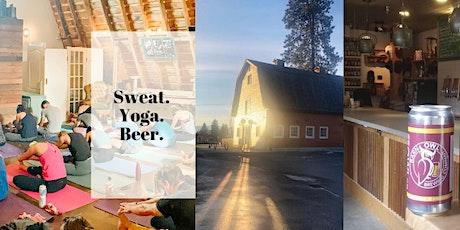 Sweat. Yoga. Beer. tickets