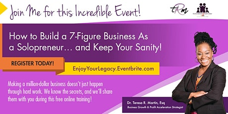 Build a 7-Figure Business As a Solopreneur tickets