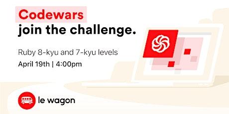 #CodeFromHome: Codewars, join the challenge! - Beginner edition tickets