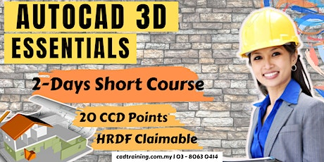 AutoCAD 3D Essentials | 2-day Short Course | 20 CCD CIDB points tickets