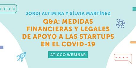 AticcoWebinars: Medidas financieras y legales de apoyo a las startups biglietti