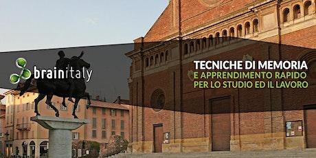 Pavia: Corso gratuito di memoria biglietti