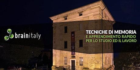 Lumezzane: Corso gratuito di memoria biglietti
