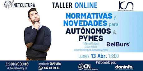 Taller Online: Normativas y Novedades para Autónomos y PYMES entradas