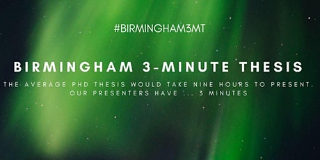 Birmingham Three Minute Thesis Heat 2020 tickets