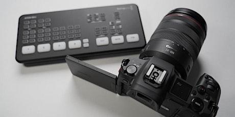 """Online Workshop """"Livestreaming mit EOS Kameras"""" bilhetes"""