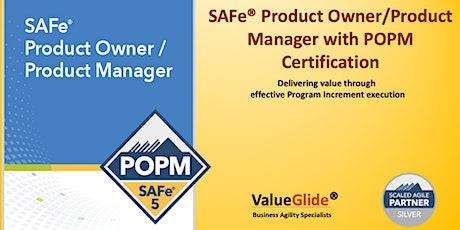 SAFe POPM 5.0 Course , Weekend  July 4th - 5th, 2020 tickets