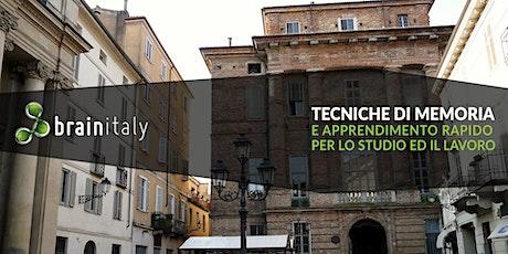 Casale Monferrato: Corso gratuito di memoria biglietti