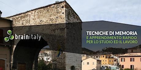 Ascoli Piceno: Corso gratuito di memoria biglietti
