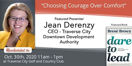 "October 30th - Jean Derenzy, ""Choosing Courage Over Comfort"" tickets"